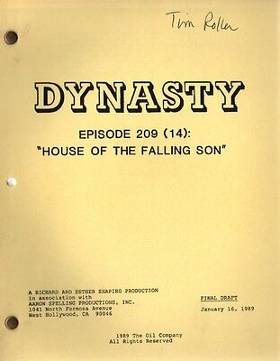 JOAN COLLINS - Original DYNASTY Script  'House Of The Falling Son', 1989 [C#33]
