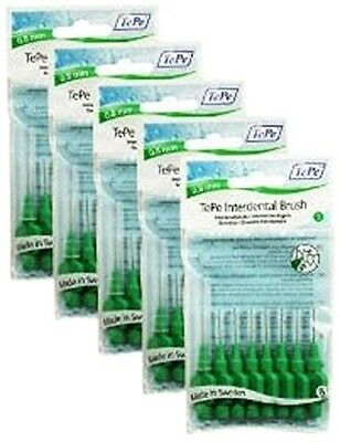 TePe 0.8 mm Size 5 Original Interdental Brush - Pack of 5, Total 40. Delivery is