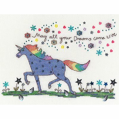 BOTHY THREADS LOVE DREAMS UNICORN CROSS STITCH KIT by KIM ANDERSON
