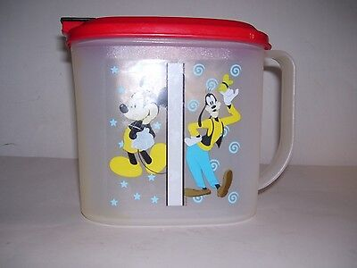Tupperware Disney Mickey Mouse & Goofy 1 quart pitcher RARE COLORS  !!!