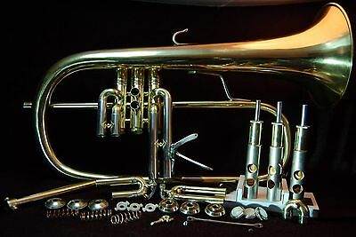 Bach Stradivarius Flugelhorn #183 With Case/Cover and Bach 3CFL Mouthpiece
