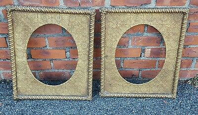 Outstanding   pair of 19th Century Victorian Gold gilt frames  rope design
