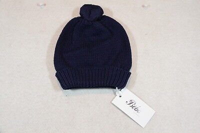 Baby Boy Size XXXS,XS,S,M Bebe Winter Navy Beanie With Pom Pom NWT