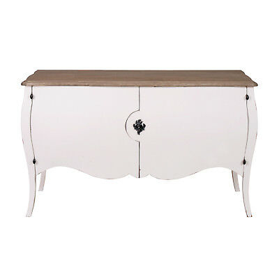Rectangular Chest Sideboard Cupboard Cabinet Table Solid Wood White Mango