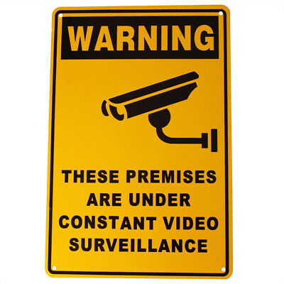 SECURITY SIGN WARNING CAMERA CCTV 200x300mm Metal UNDER24H SURVEILLANCE 16003003