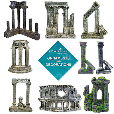 Roman Column Colosseum Ruins Ornament Aquarium Fish Tank Decoration Features