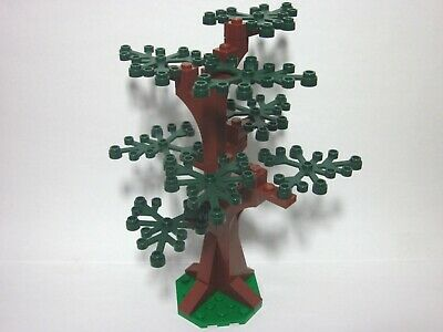 LEGO custom forest tree with 8 dark green leaves, new parts, FREE U.S. Ship!