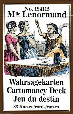 Mlle LENORMAND No 194115 - Wahrsagekarten / Cartomancy Deck / Jeu du destin