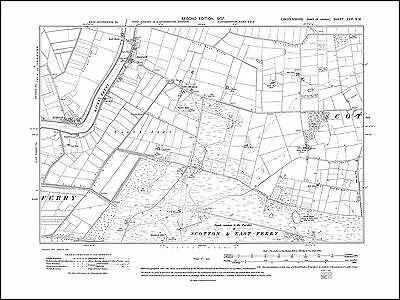 old map Lincolnshire 41SW repro North Somercotes Conis 1907 South Somercotes