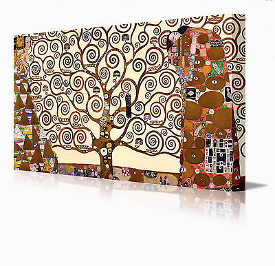 Gustav Klimt Tree Of Life Large 16 Inch Framed Canvas Modern Wall Art Picture
