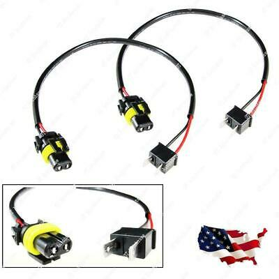 2x H7 Wire Harness Cable for HID ballast to stock 9006 socket HID Conversion Kit