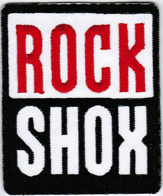 RockShox Bicycle Bike Cycling Racing Badge Iron On Embroidered Patch