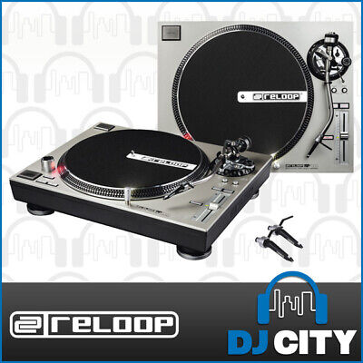 RP-7000 Silver Reloop Direct Drive Turntable *PAIR* Bundled with Ortofon Conc...