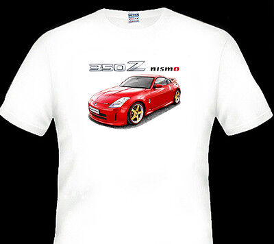 Nissan  350Z   Nismo      White Tshirt    Men's  Ladies  Kid's Sizes