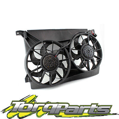 Suit Ford Au Falcon Fairmont Radiator Twin Thermo Fans Assembly 6Cyl V8