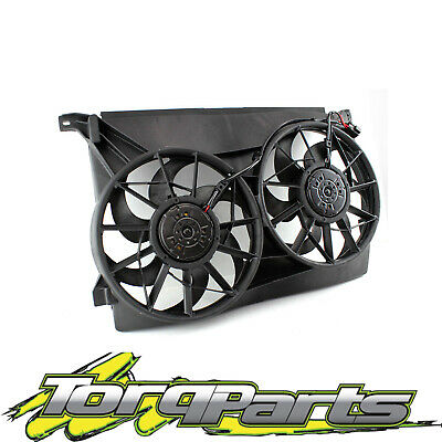 Twin Thermo Fans Suit Ford Au Falcon Fairmont Radiator Assembly 6Cyl V8