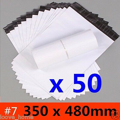 50x 350x480mm Plastic Satchel Courier Poly Mailer Self Sealing Mailing Post Bag