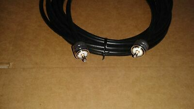 125ft RG8u Coax Cable with AMPHENOL PL259s attached ALPHA