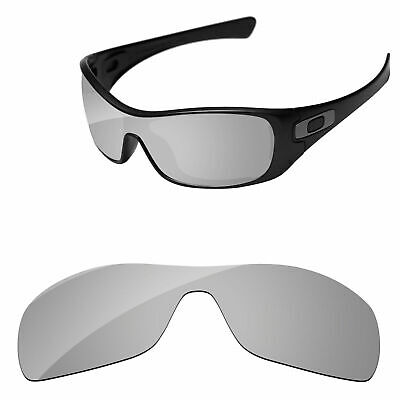 Silver Chrome Mirror Polarized Replacement Lenses For-Oakley Antix Sunglasses