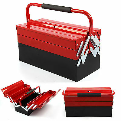 3 Tiers5 Tray Toolbox Workshop Heavy Duty Metal Cantilever Tool Box Tool Storage