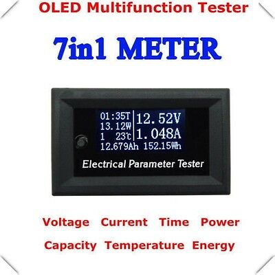 Oled Tester Power Meter Monitor Capacity Energy Volt Ammeter Time Temperature