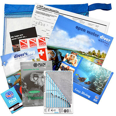 PADI Open Water Diver Manual and Crew Pack product 61301 New Version