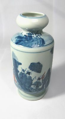 "Chinese blue and white porcelain handwork empire""Kang Xi""private visit vase"