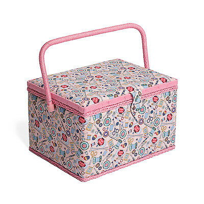 NEW | Hobby Gift MRL/187 | Contemporary Notions Large Sewing Box | 23½x31x20cm
