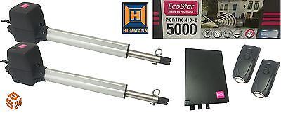 EcoStar Portronic 5000 Swing Gate Opener Hormann 2 Motor Electric Operator Hinge
