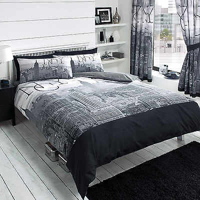 New York City Skyline Duvet Cover Quilt Cover Set Single Double King Super By GC