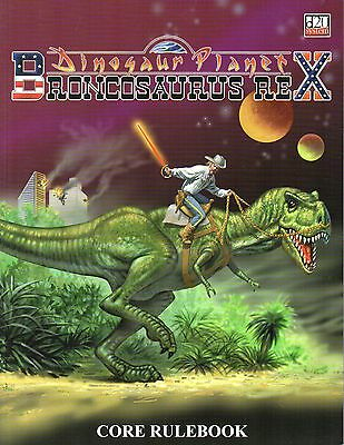 Dinosaur Planet-Broncosaurus Rex-CORE RULEBOOK-d20-Roleplaying Game-(SC)-rare