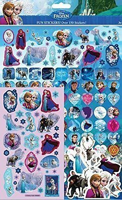12 x Paper Projects FROZEN Mega Pack Over 150 Fun Stickers Foiled Re-usable
