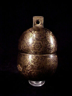 """Large Bronze Elephant Bell 6"""" Tall by 3""""+ Brass Chime Unique Gong Nice Ring #E"""