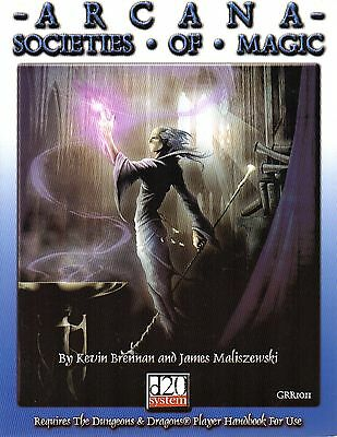 ARCANA-SOCIETIES OF MAGIC-RPG-Roleplaying Game-(SC)-very rare