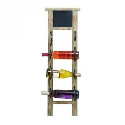 Woodland Imports Chalkboard 4 Bottle Wall Mounted Wine Rack. Shipping Included
