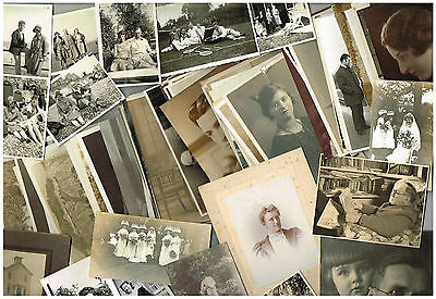 FAMILY PHOTOGRAPHS ANTIQUE / VINTAGE BULK LOT OF 500 PEOPLE & PLACES 1900-1950s