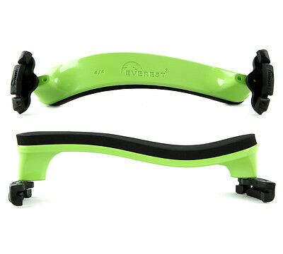 Everest Spring Collection 4/4 (Full Size) Violin Shoulder Rest Green