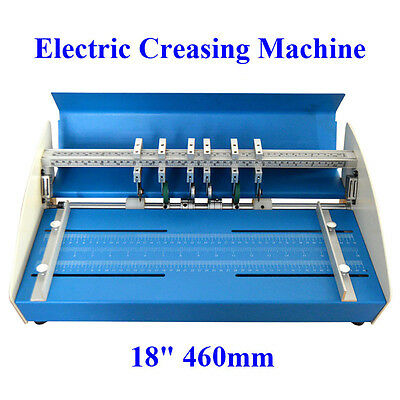 "220V Metal Electrical Creasing Machine 18""460m Creaser Scorer Perforating Paper"