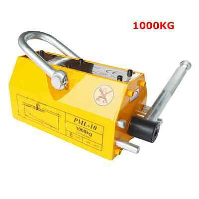 TOP 1000 KG Steel Magnetic Lifter Heavy Duty Crane Hoist Lifting Magnet 2200lb