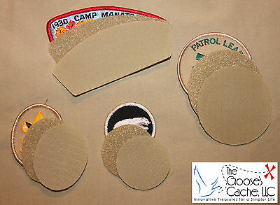 Tan Sew-on Hook and Loop for Attaching Patches to Boy Scout Shirts