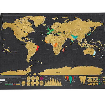 Personalized world travel map Travel Edition Scratch Off Map Poster Journal Log