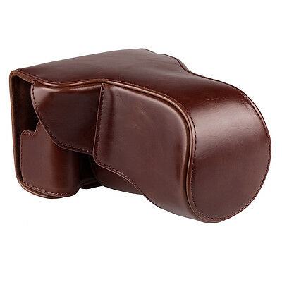 Camera Case Cover Bag Pouch for Canon EOS-M3 New Coffee PU Leather with Strap
