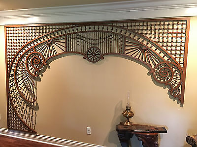 Amazing Antique Victorian Fretwork Ball and Stick Lacework Largest Around 1800's