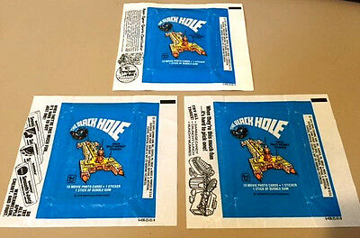 The Black Hole - 15x Wax Pack Card Wrappers - 1979 TOPPS - NO TEARS !!!