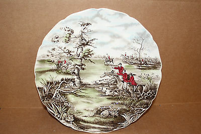 "Tally Ho ""view Haloo"" Dinner/service Plate - Johnson Bros, England"