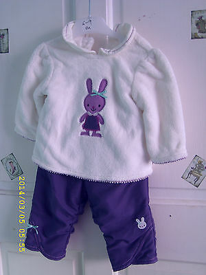 Girls Outfit Aged 6/9 Months Fleece Top