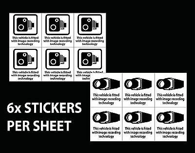 Pack Of 6 SMALL CCTV IN OPERATION IN THIS VEHICLE STICKER 100x105mm