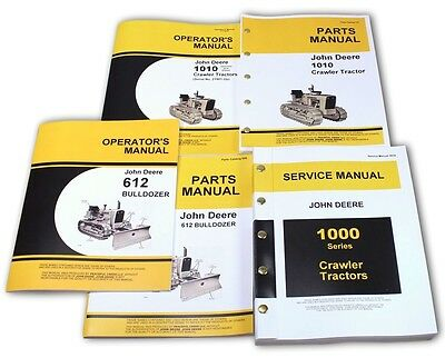 SERVICE MANUAL SET For John Deere 1010 Crawler Dozer Operators Parts Catalog