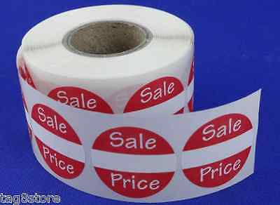 "500 Self-Adhesive Sales Price Round Retail Labels 1"" Stickers Tags - Sale Retail"