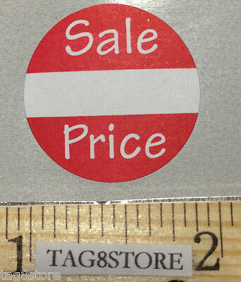 "500 Self-Adhesive Sale Price Round Retail Labels 1"" Sticker Tags Retail Sales"